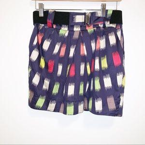 BCBGENERATION Navy Multi-Color Belted Skirt-6